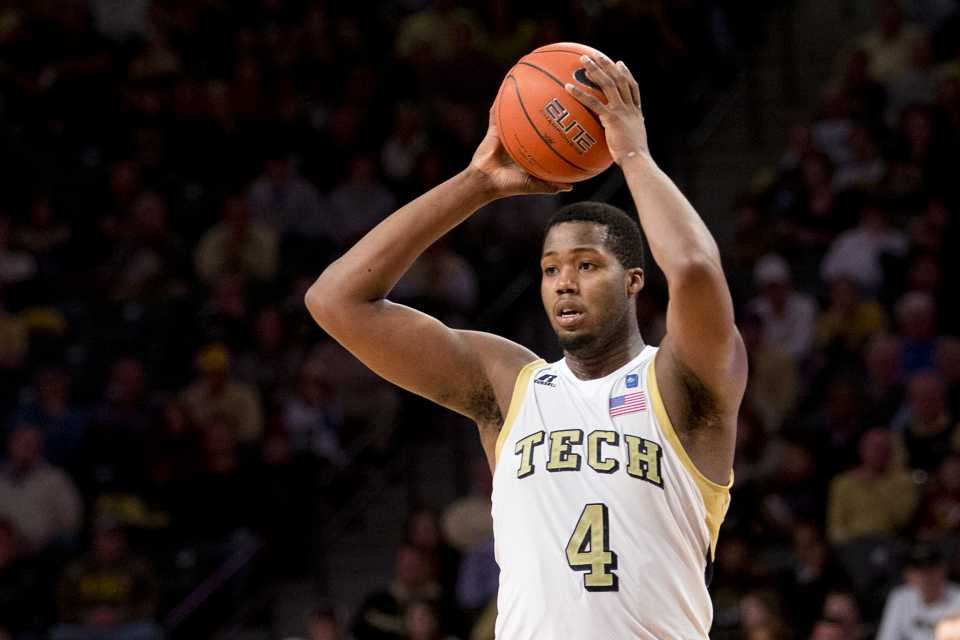Photo by John Nakano / Freshman forward Robert Carter has played a big role for Tech this season. Carter has started all nineteen games for Tech and is averaging 10.1 points per game and 6.7 rebounds per game.
