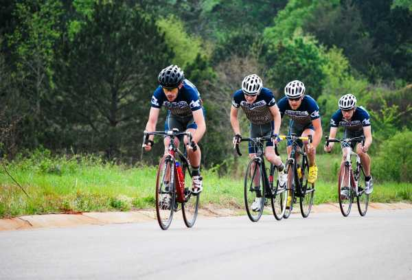 The GT Cycling sport club competes regularly in Southeastern Collegiate Cycling Conference road, mountain and crit races. / Photo Courtesy of GT Cycling Club