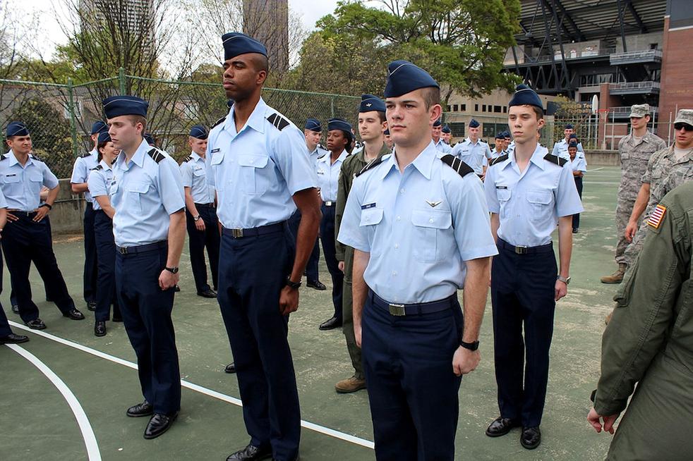 Air force blues uniform rotc