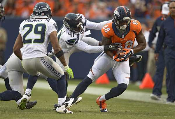 Denver Broncos versus the Seattle Seahawks