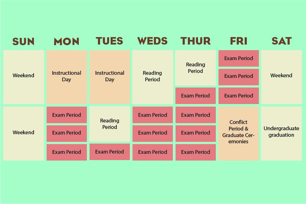 study calendar