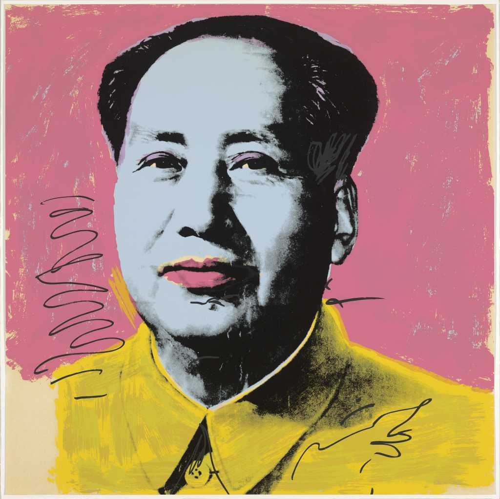 Andy Warhol (American,1928–1987), Mao (II.91), edition 212/250,1972, screenprint, 36 x 36 inches, courtesy of Jordan D. Schnitzer and His Family Foundation.© 2017 The Andy Warhol Foundation for the Visual Arts, Inc./Artists Rights Society (ARS), New York.