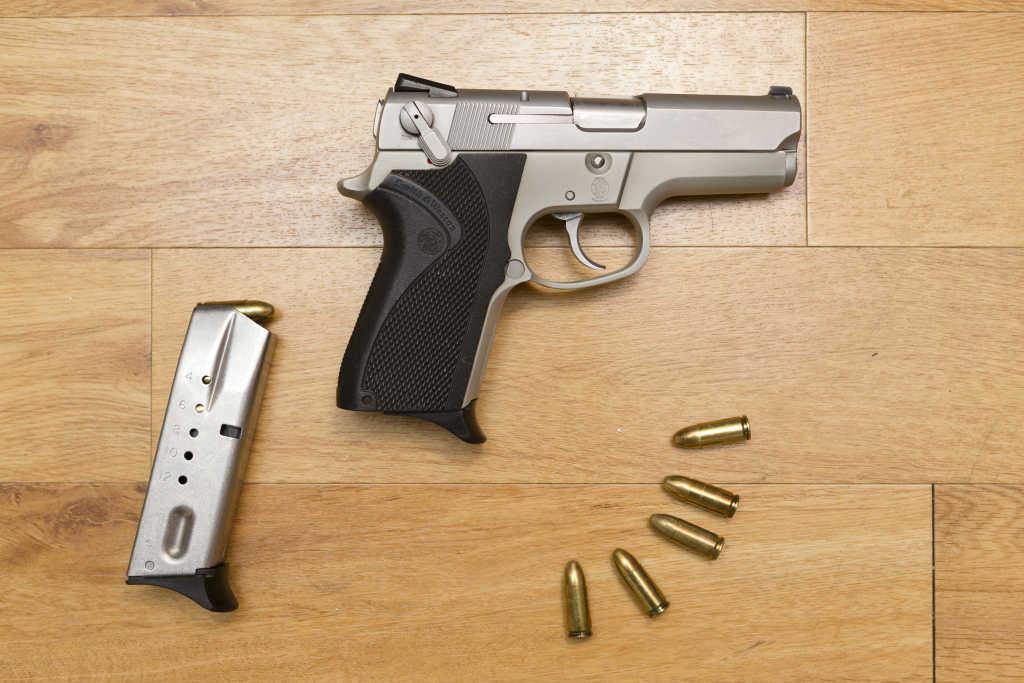 gun on a table